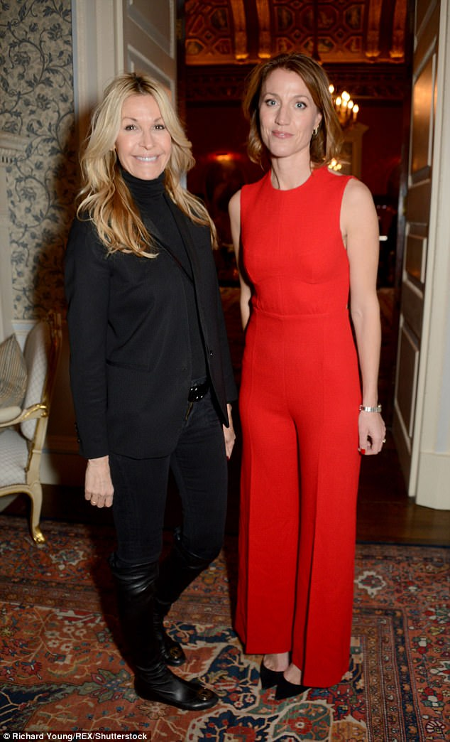 Lovely ladies:Melissa Odabash and Emily Goad turned heads on the evening