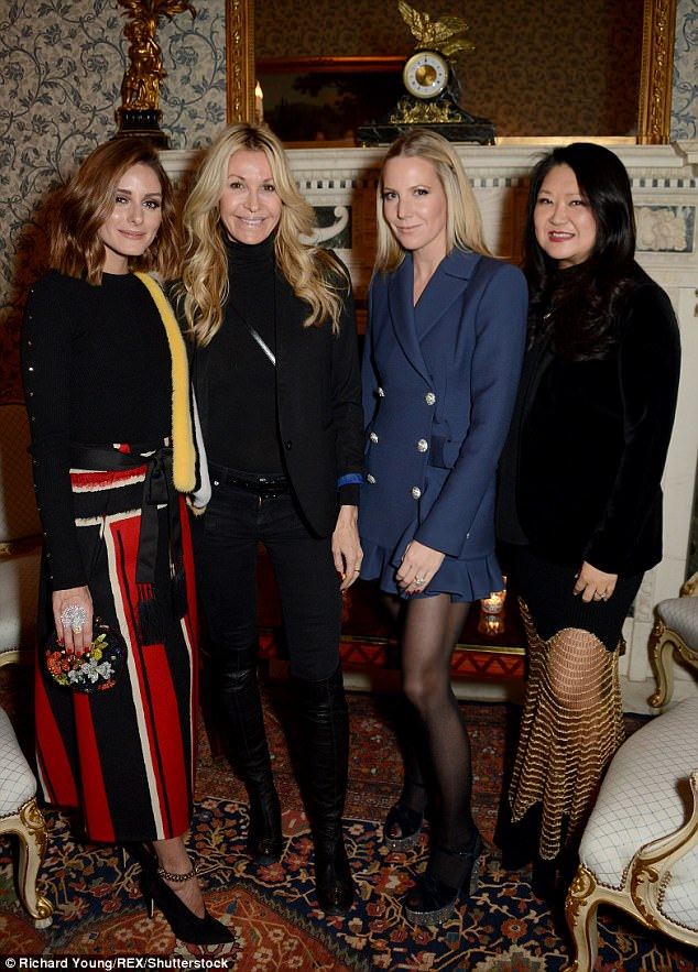 Fantastic four:Olivia, Melissa Odabash, Alice Naylor-Leyland and Susan Shin posed together on the night in their glamorous ensembles