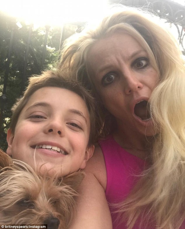 'We got locked outside': On Monday, Britney and her youngest son Sean Federline, 11, were accidentally locked out of her home, and had to call assistance