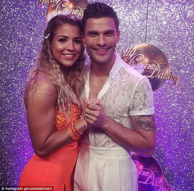 Friendship:The former Emmerdale beauty also weighed in on the 'Strictly curse', saying it won't strike her and partner Aljaz Skorjanec, who recently wed Janette Manrara, because they are friends who sit around 'burping' together