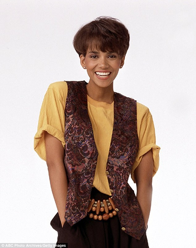 Early days: Halle was a struggling actress in New York City at the beginning of her career (pictured in 1989)