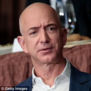 Zuckerberg jumped ahead of Amazon's Jeff Bezos (pictured), who had been in the lead, this week