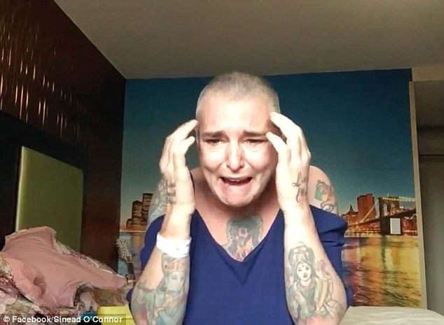 Speaking about Sinead O'Connor, Dr Jain said she isn't sure if the video went too far or not. In the video, which was posted to Facebook August 4, O'Connor sobbed through the words: 'I'm fighting, fighting, fighting, like all the millions and millions that I know I'm one of - to stay alive every day'