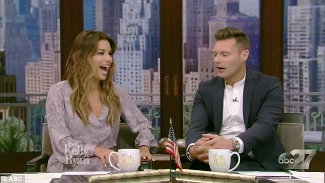Hostess with the mostest: Eva co-hosted Live with Kelly and Ryan with Ryan Seacrest