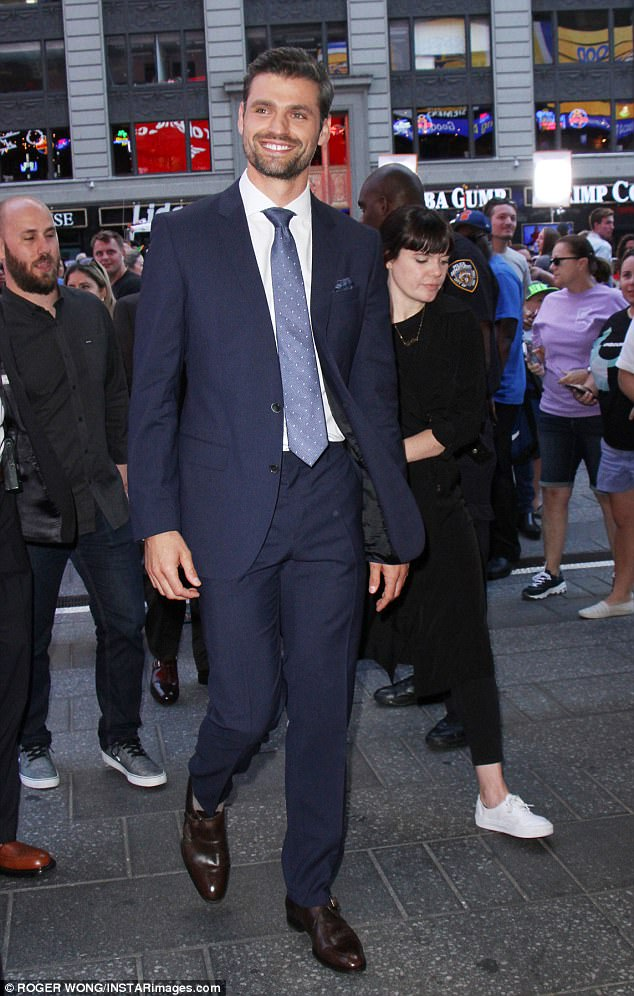 Final two: It was down to Bryan and runner-up Peter Kraus, who was forced to say goodbye to Rachel after telling her he wasn't ready to propose to her just yet, but instead wanted to pursue a relationship with her (pictured at Good Morning America on Wednesday)