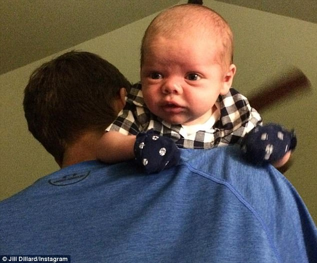 Snaps: Last week, the parents shared more photos of baby Samuel, including this shot of the little boy resting on his dad's shoulder