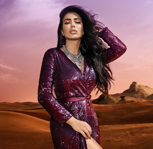 Arabian nights: Beauty guru Huda Kattan looked to the landscape of the Middle East when designing her latest eyeshadow palette