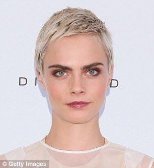 Short hair, don't care: Katy has gradually taken her crop shorter, choosing to leave it longer on the top and front, while Cara is growing out hers after shaving her head in April