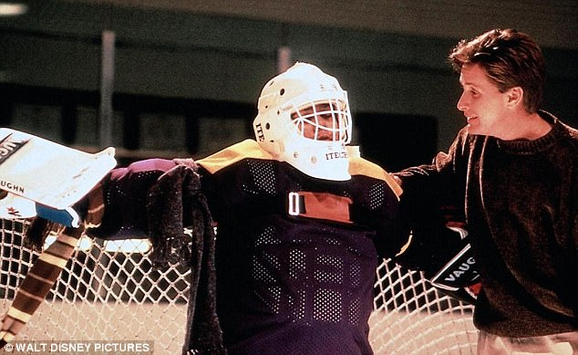 Classic: The 90s child star played goalie Goldberg in the Mighty Ducks franchise from 1992 to 1996