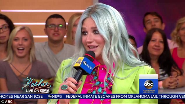 Hope: Kesha said her fondness for rainbows is because 'color symbolizes hope' and it is also a symbol for the LGBTQ community, of which she supports