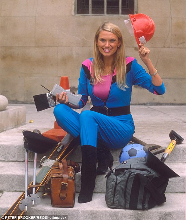 Incredible: Baffled fans claimed the host, 58, looks 'even younger now' than she did at the 1987 inception of Challenge Anneka (pictured) and begged to know her anti-aging secret