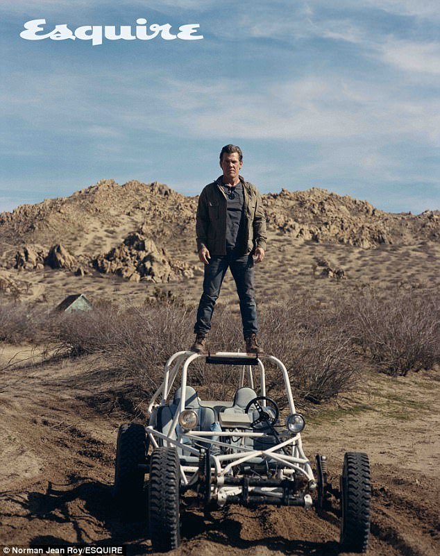 Fun in the desert: The Deadpool 2 actor posted for a variety of shots in the desert for the accompanying shoot