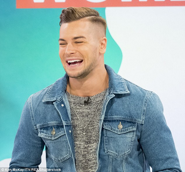 Working through it: Chris Hughes has admitted he's having some problems in his relationship with Olivia Attwood, but has vowed that they will work on their issues