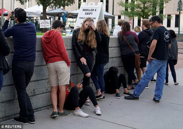 Swift fans lined up outside of the courthouse on Wednesday hoping to catch a glimpse of the pop star