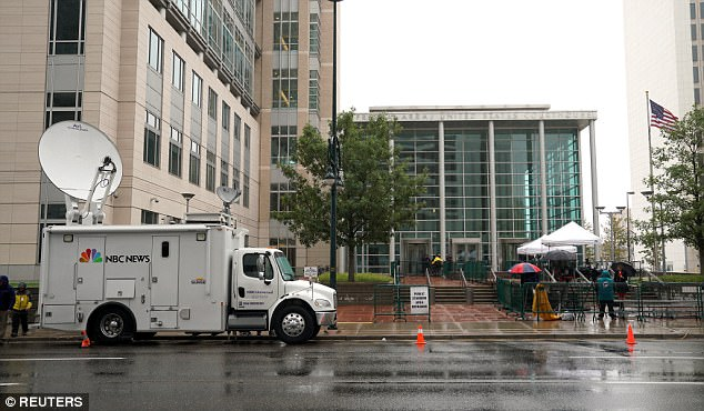 Swift showed up to court through a side entrance away from the massive media presence near the main entryway
