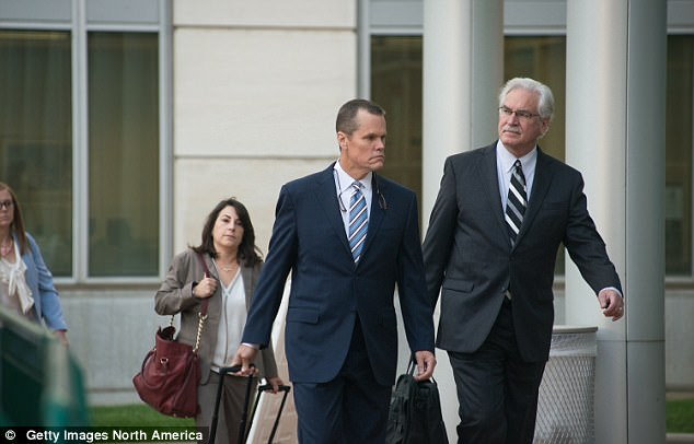 Taylor Swift's attorney Doug Baldridge (left) questioned why Mueller changed his story about the alleged groping incident on Tuesday