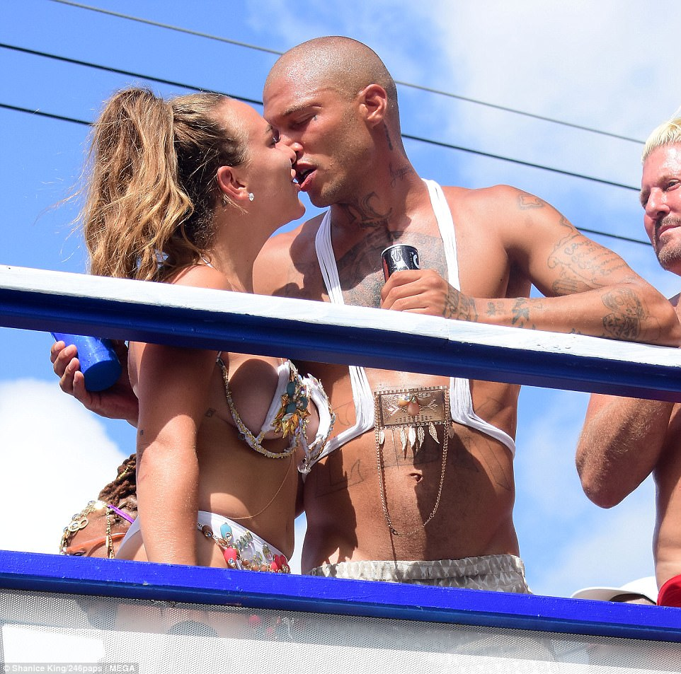 Green's daughter Chloe was pictured snogging her boyfriend, so-called 'hot felon' Jeremy Meeks, in Barbados on Monday