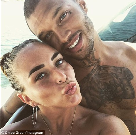 Defiant: Despite turning her Instagram private the heiress proceeded to share selfie with the 'hot felon' on Friday captioned: 'Life is to short not to laugh and smile and that's all we do... @jmeeks official. #nohatejustlove #everyonedeservestobehappy'