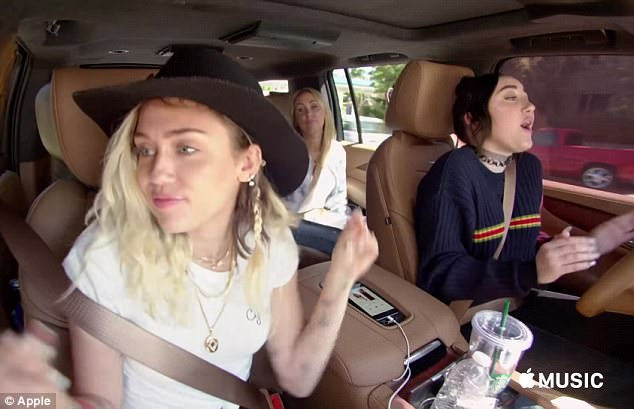 Tune in: The trailer for James Corden's new Carpool Karaoke standalone show features a host of A-list stars including Miley Cyrus buckling up in the passenger seats as they embark on a road trip around LA
