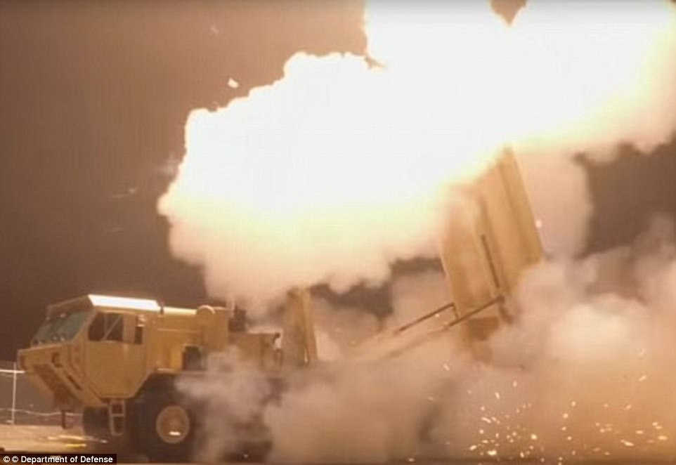 The THAAD is a US-built anti-ballistic missile system which shoots down rockets in their final phase of their flight