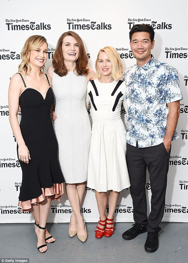 Once inside the venue: Brie was joined by her striking The Glass Castle cast-mate Naomi Watts, author Jeannette Walls, and writer-director Destin Daniel Cretton
