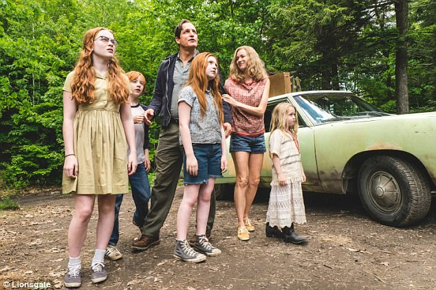 Nomads: Watts plays the eccentric artist mother-of-four Rose Mary Walls in the dysfunctional family drama, which hits US theaters this Friday and UK theaters October 6