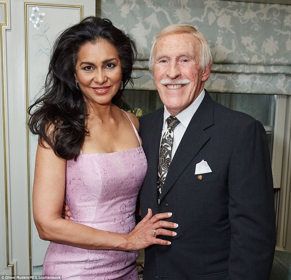 Sir Bruce with his wife Wilnelia Merced at the launch of his book 'Strictly Bruce' at Fortnum and Mason in September 2015
