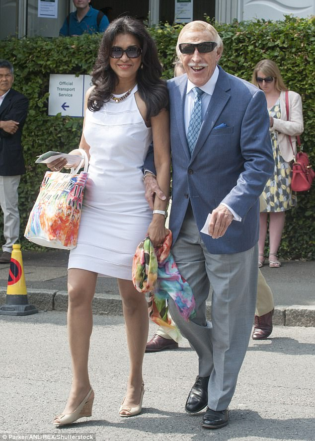 Sir Bruce and his wife Lady Wilnelia arriving for tennis at Wimledon in 2014, pictured. The pair were married in 1983 after meeting while judging the 1980 Miss World Competition