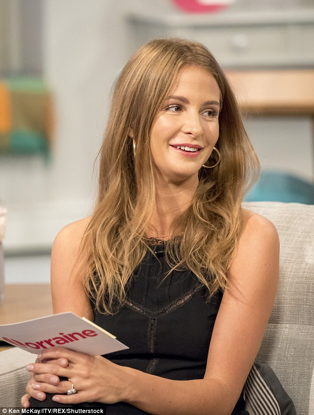 Giving it another go: Millie Mackintosh bravely made a second appearance on ITV's Lorraine on Friday, this time joining forces with The Saturdays' Frankie Bridge to discuss the latest denim trends