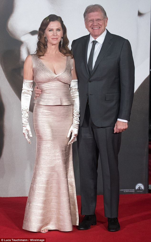 In good hands: Legendary super producer Robert Zemeckis, 65, who is famous for directing Forrest Gump and Back to the Future, will be shepherding the show to the screen as executive producer (pictured here with wife Leslie in 2016)