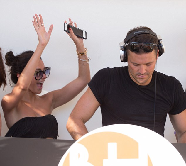 Having fun: During the breakaway, the Tina and Bobby star was seen cracking a relaxed smile and shimmying away as she supported her husband during his weekly DJ residency at the BH Mallorca Hotel