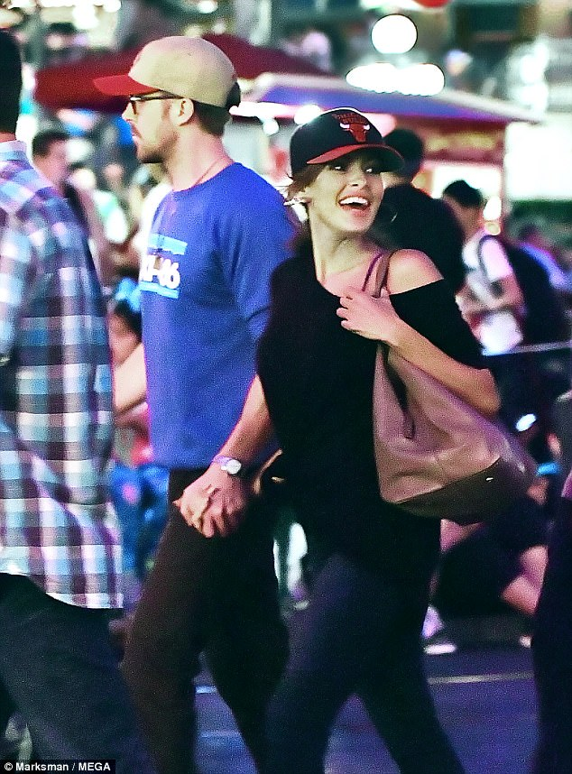 Adult time:Leaving their kids at home, the duo enjoyed an evening at Disneyland in Anaheim, California