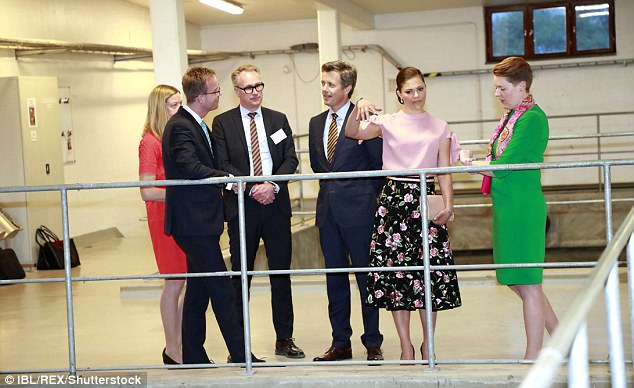 The royals chatted away to their guides as they were treated to a tour of the factory