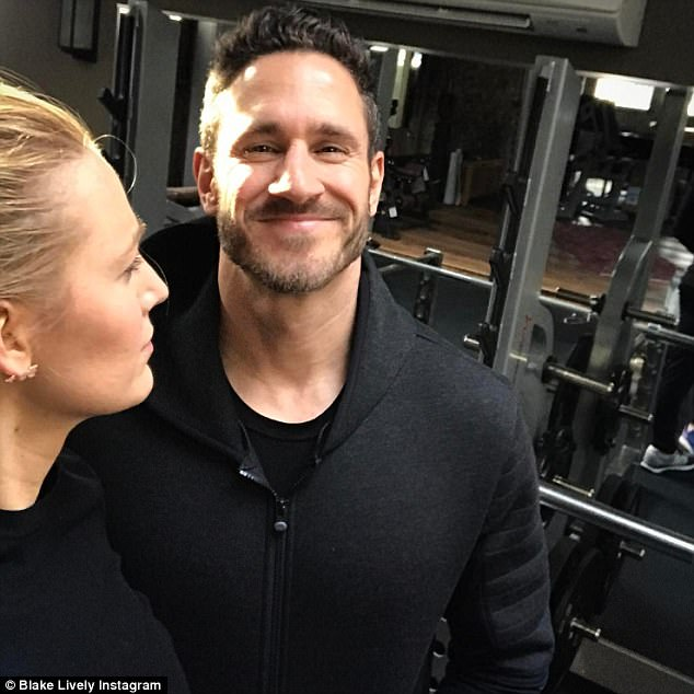 Break in the workout: Ryans' wife of five years actress Blake Lively, 30, also works with Don for her fitness regime
