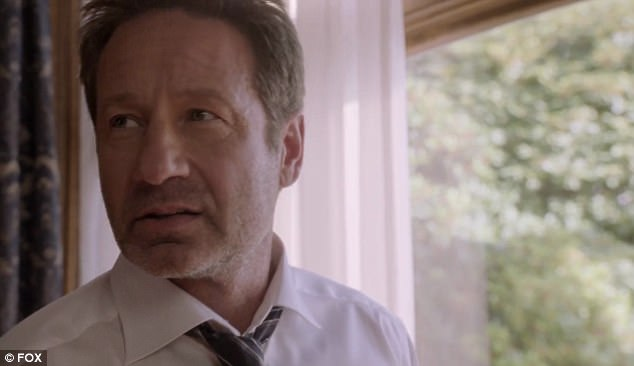 On-screen: David plays Fox Mulder and Gillian returns in the role of Dana Scully