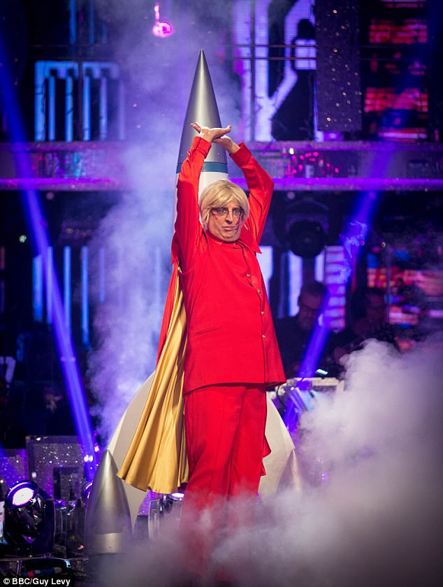 Flash! During the sensation Movie Week special on Saturday, the Reverend performed a paso doble to the Flash Gordon theme song