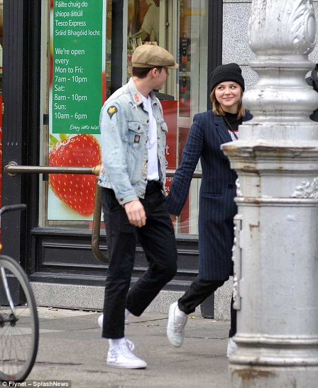 Love is in the air: The smitten duo couldn't keep their eyes off each other on the cute outing