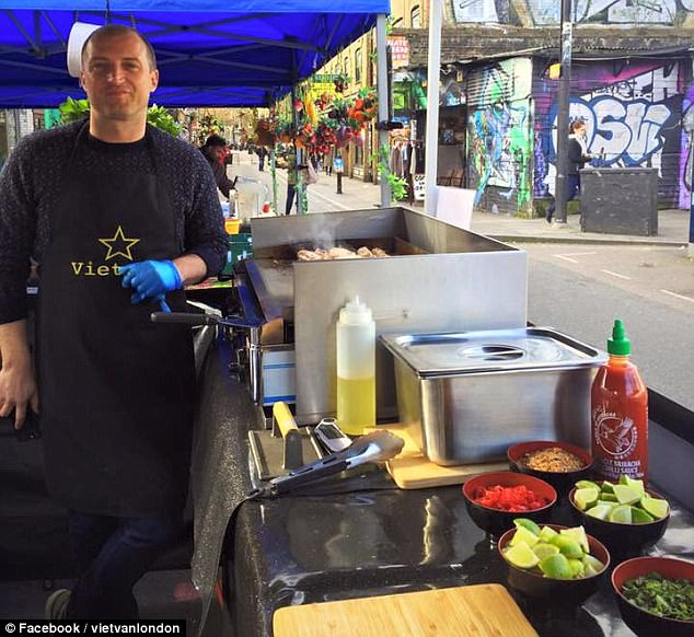 He now runs Vietnamese street food truck Vietvan with his partner Tracey Pooley and has catered for the likes of London Fashion Week