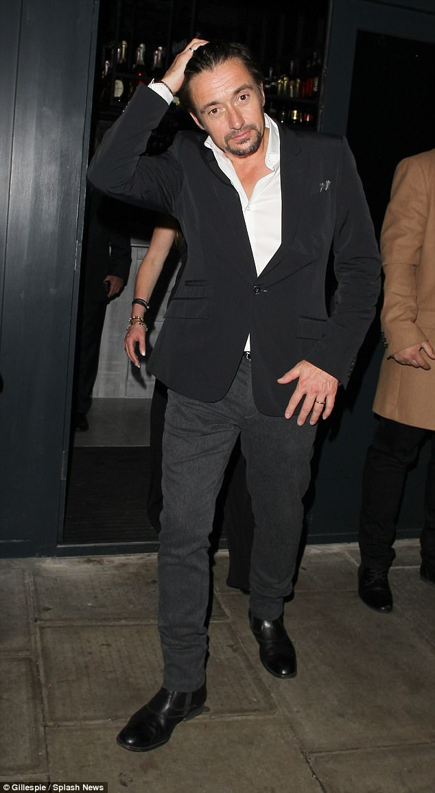 You Ale-right there? The former Top Gear presenter struggled to keep his composure as he exited the newly launched upscale eatery