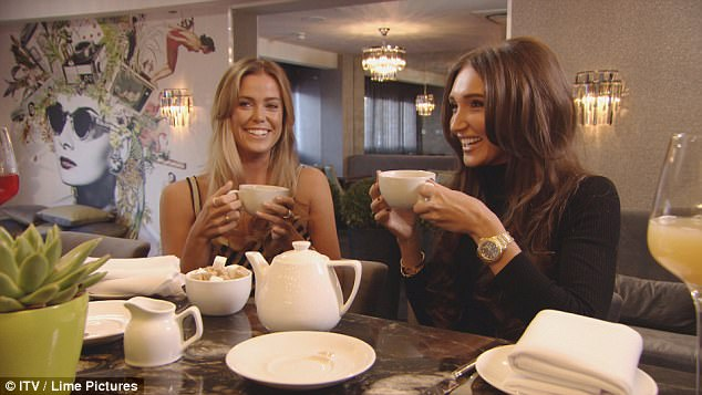 Reunited:Chloe M turns to Megan for support as the former best friends go for tea together
