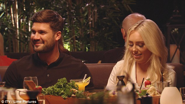 Keeping mum:In other developments, Dan and Amber T refuse to commit to any relationship status during dinner out with Lockie and Yas