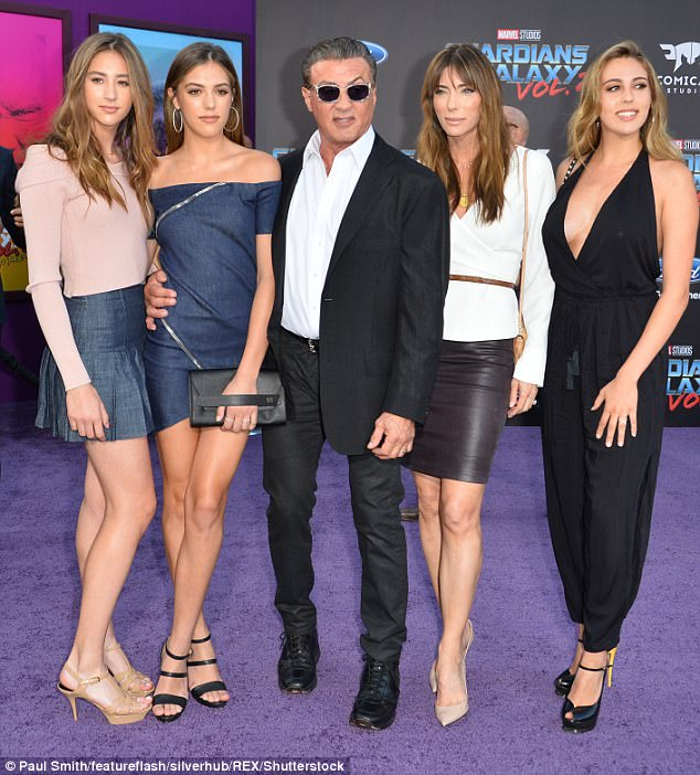 A-team! He also shares 15-year-old daughter Scarlet with his wife Jennifer (whole family pictured in Los Angeles 2017)