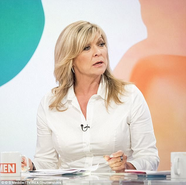 Candid:The actress revealed on Loose Women in August that she found out Peter was having an affair after she received a letter from his new lover's husband (pictured on the show)