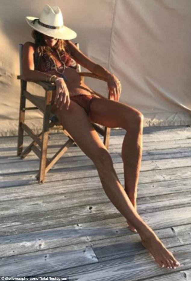 Beach babe! The supermodel is no stranger to flaunting her fabulous figure in swimwear