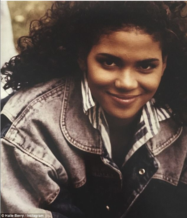 Going back in time: Halle Berry got nostalgic as she shared a darling throwback photo of herself on Instagram (Photo from Instagram)