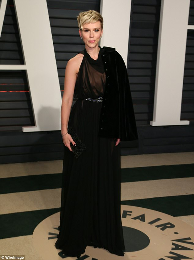 The 35-year-old comedian has been rumored to be dating newly-divorced actress Scarlett Johansson after her appearance this year on Saturday Night Live; Scarlett seen here at the 2017 Vanity Fair Oscar Party in Beverly Hills