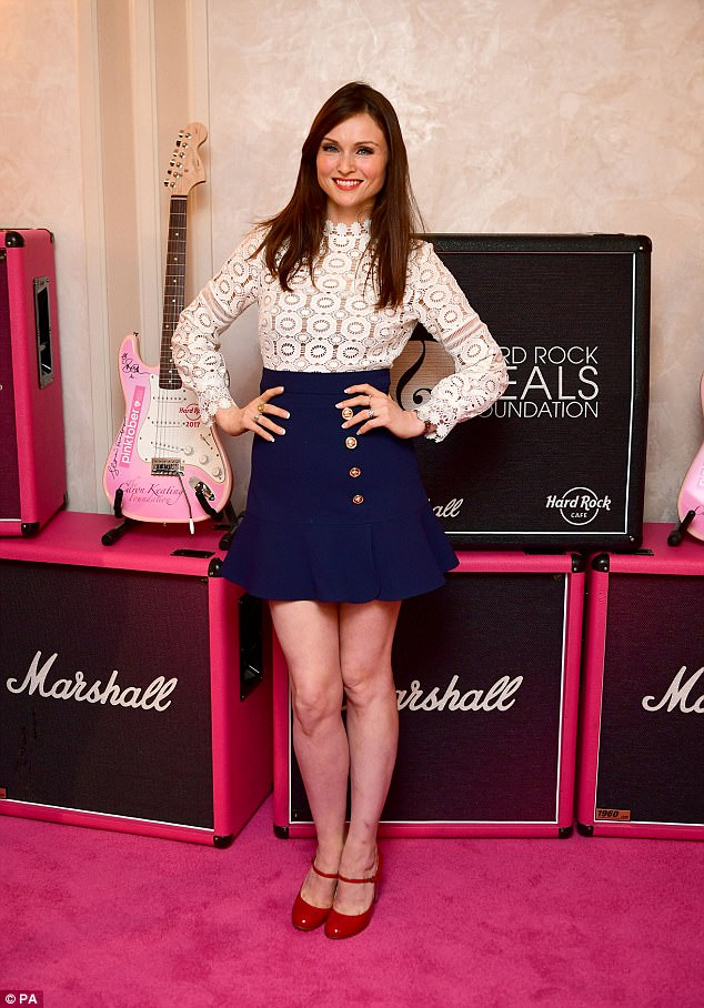 Charitable:Sophie Ellis Bextor leant her star power to the annual Hard Rock Pinktober Gala Pinktober Gala with Hard Rock Heals Fundraiser held at The Dorchester hotel in London on Friday