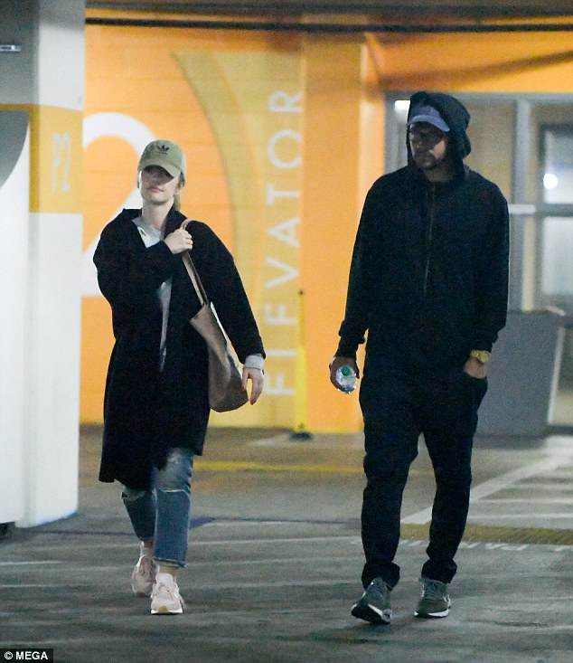 Low key: She is rumored to be dating Grey's Anatomy star Jesse Williams; seen together on July 7 after going to the movies in West Hollywood