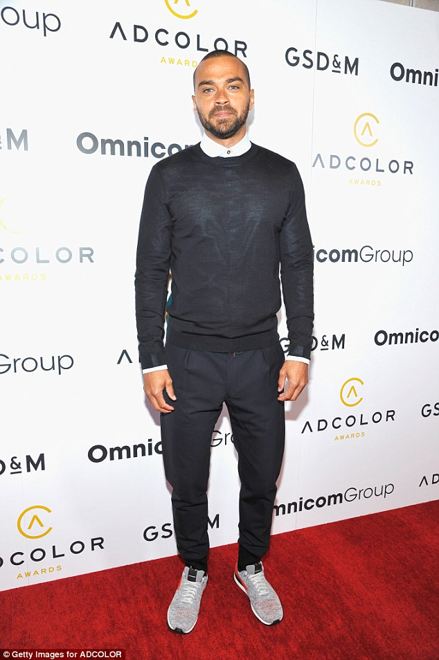 Moving forward: He filed for divorce in April of this year from his estranged wife Aryn; Jesse seen on September 19 at the ADCOLOR Awards in Hollywood