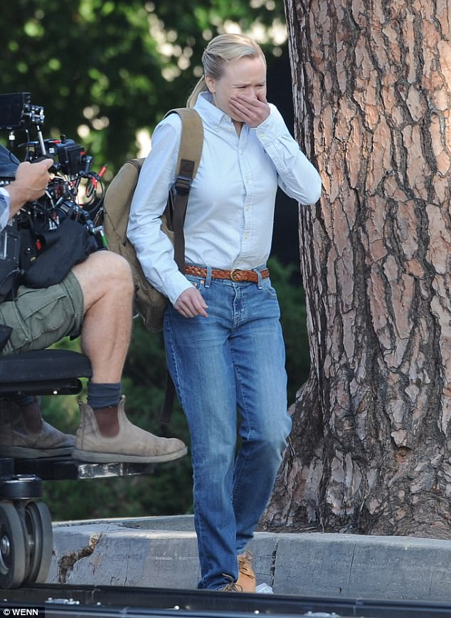 Shirted up:The film is currently in pre-production and features an all-star cast, including Steve Carell, Sam Rockwell and Bill Pullman